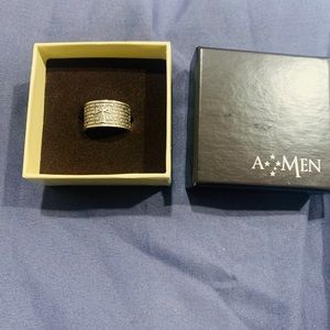 """Male """"The Lord's Prayer"""" AMEN ring"""